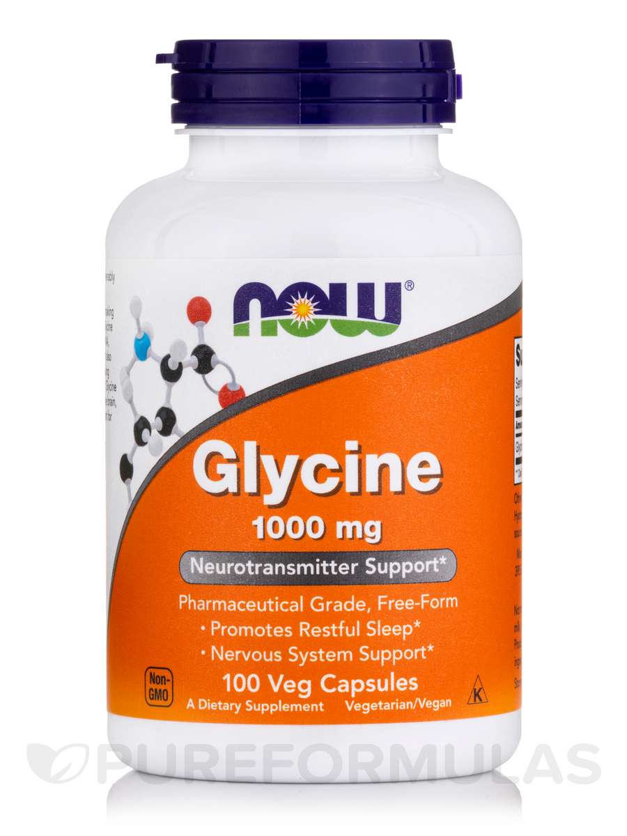 Glycine 1000 mg - 100 Veg Capsules