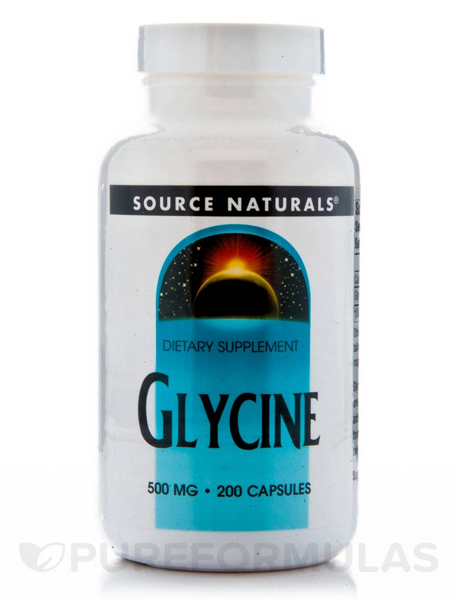 Glycine 500 mg - 200 Capsules