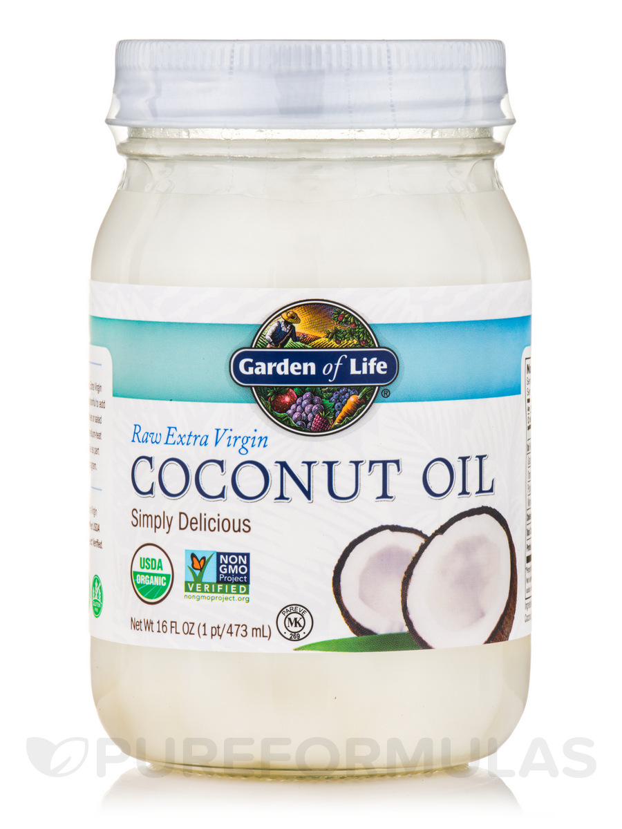 Living Foods Organic Extra Virgin Coconut Oil - 16 fl. oz (473 ml)