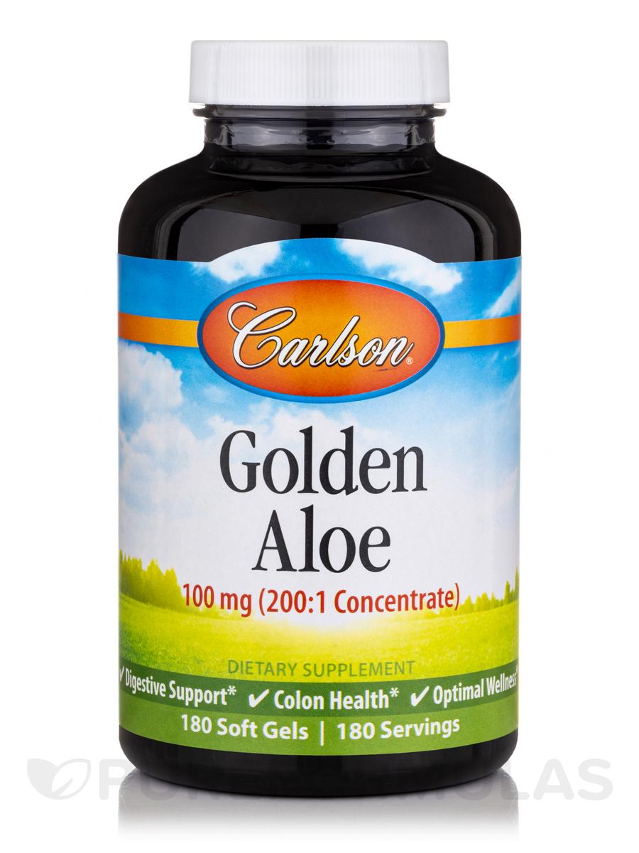 Golden Aloe 100 mg - 180 Soft Gels