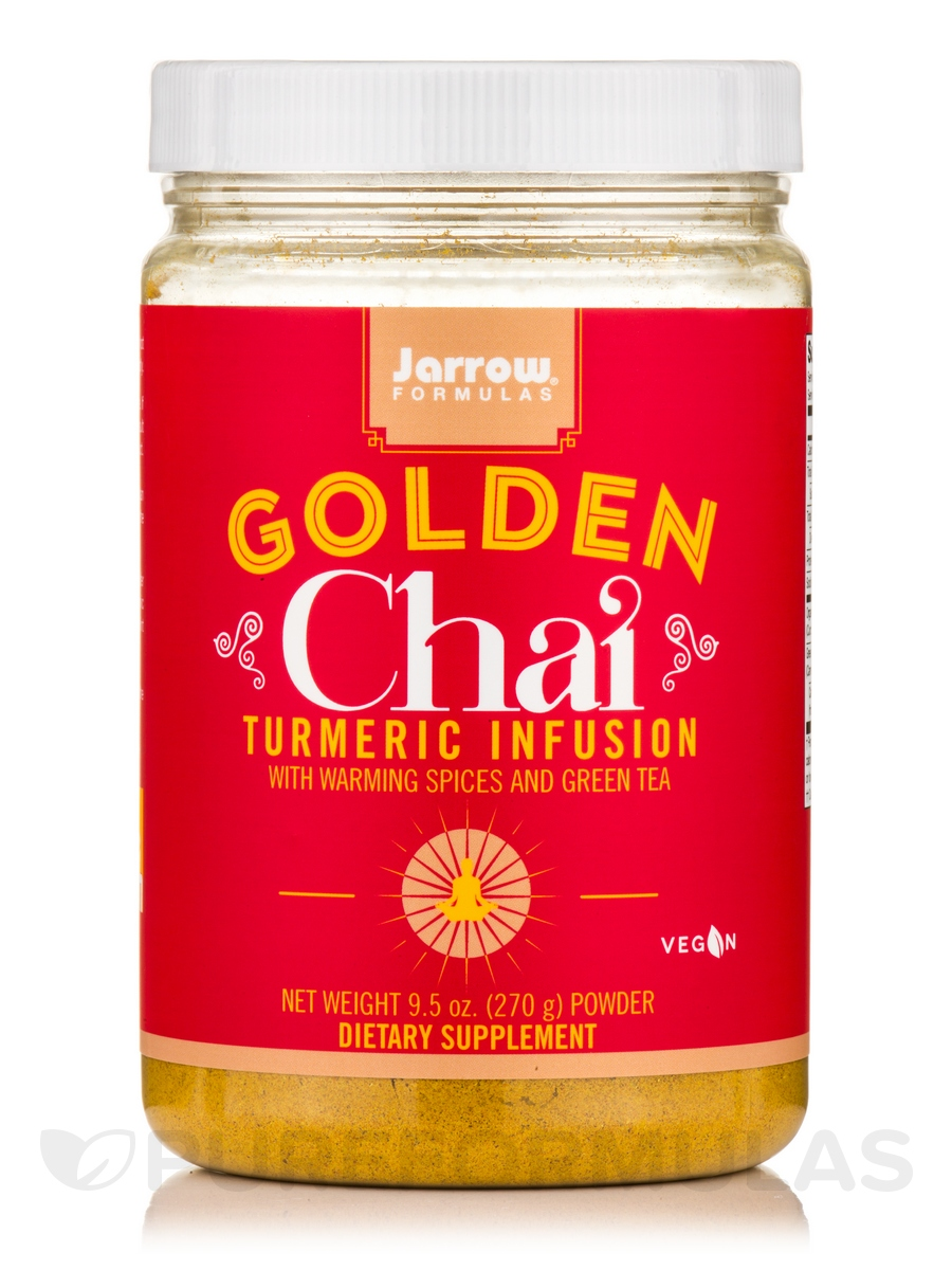 Golden Chai Turmeric Infusion with Warming Spices and Green Tea - 9.5 oz (270 Grams)