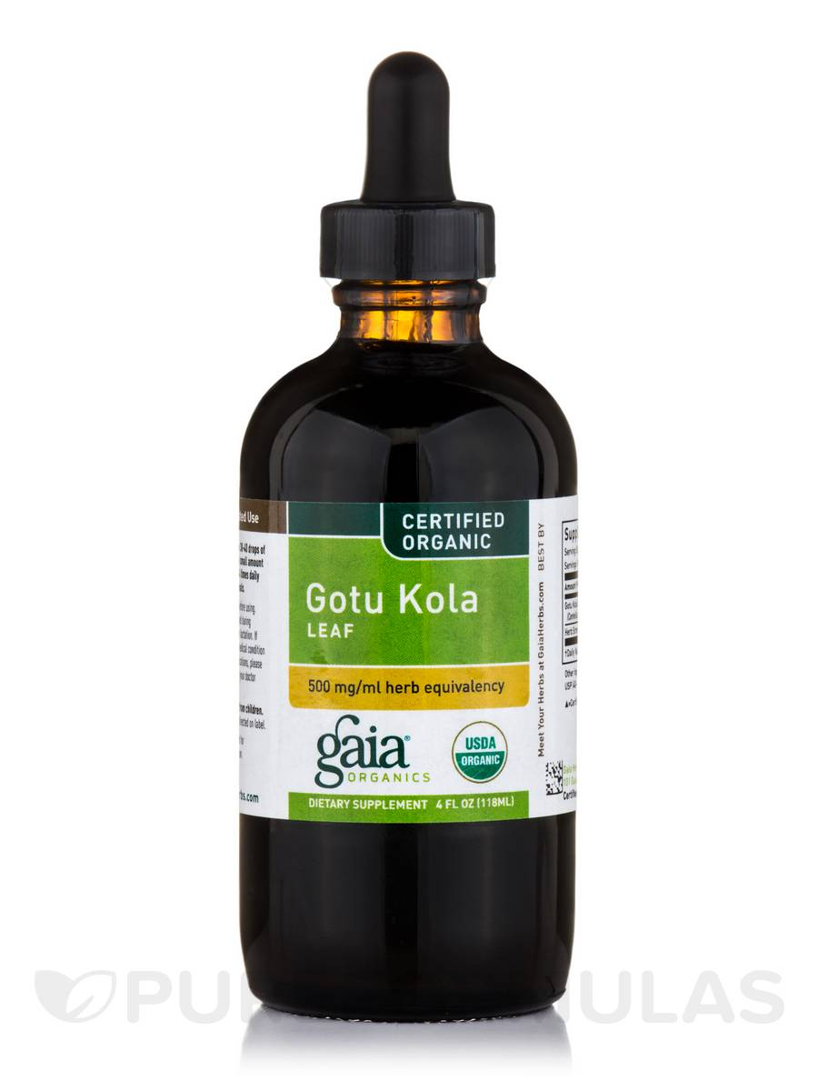 Gotu Kola Leaf (Certified Organic) - 4 fl. oz (118 ml)