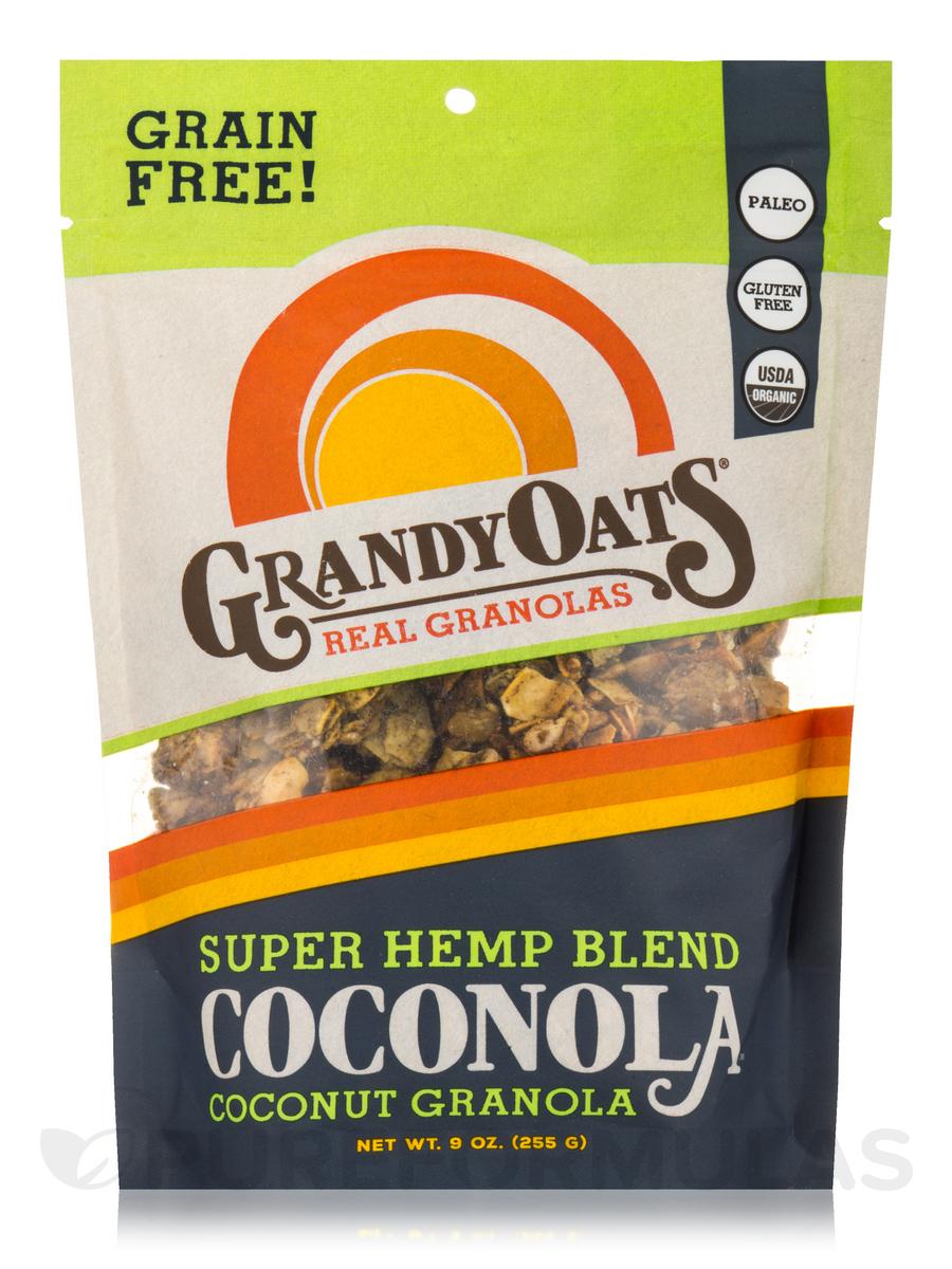 Grain Free Super Hemp Blend Coconola (Coconut Granola) - 9 oz (255 Grams)