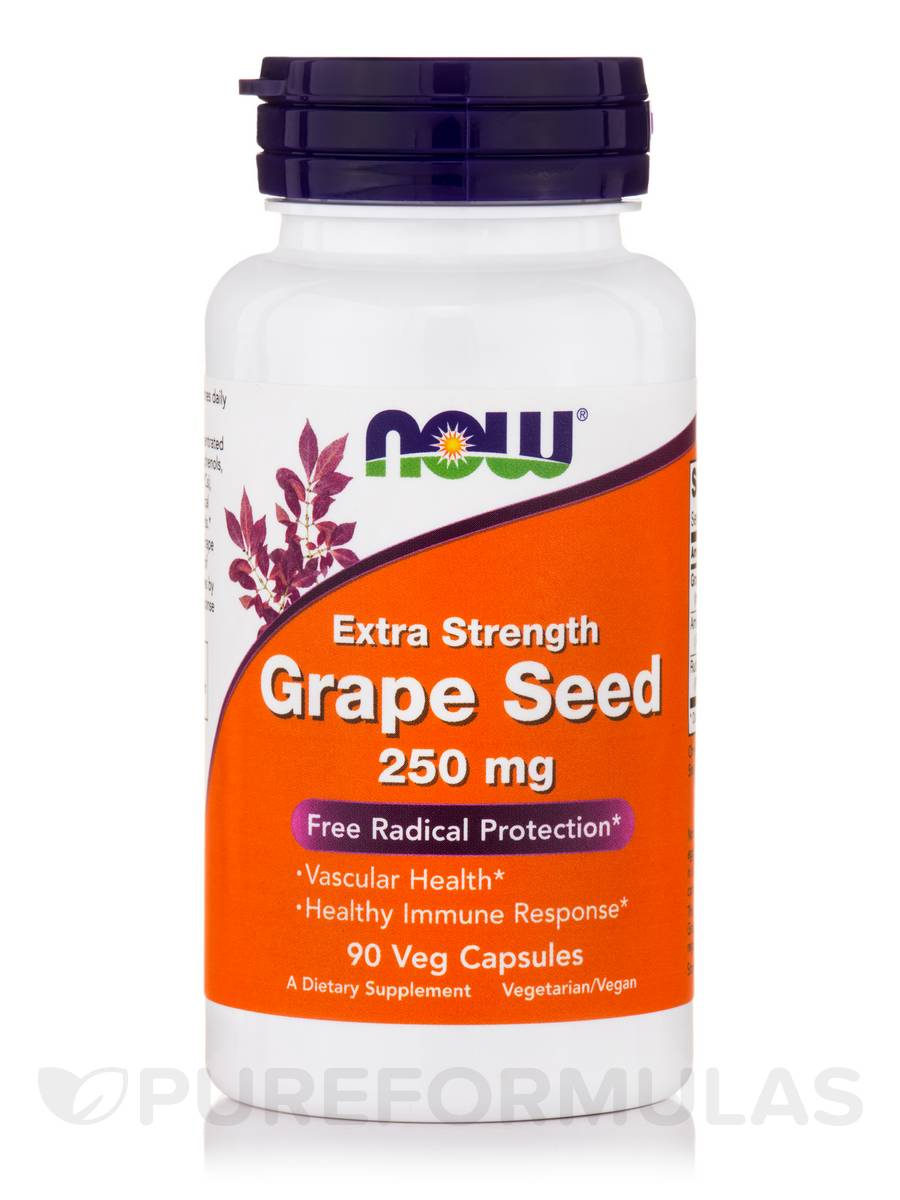Grape Seed 250 mg (Extra Strength) - 90 Veg Capsules