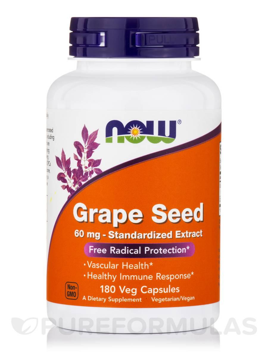 Grape Seed 60 mg - 180 Vegetarian Capsules