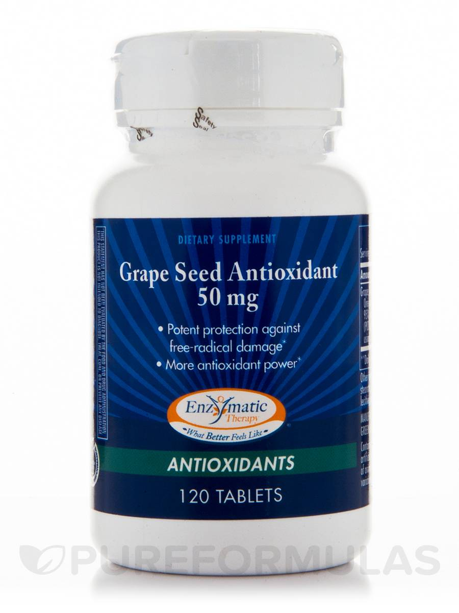 Grape Seed Antioxidant 50 mg - 120 Tablets