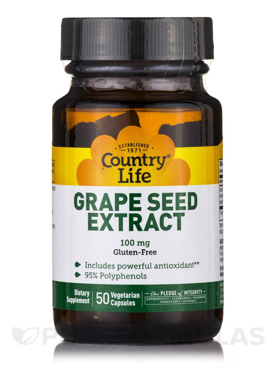 Grape Seed Extract 100 mg - 50 Vegetarian Capsules