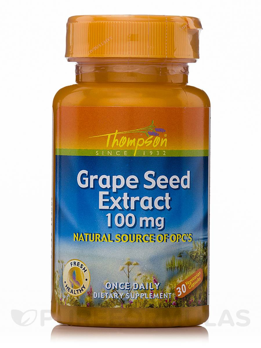 Grape Seed Extract 100 mg - 30 Vegetarian Capsules
