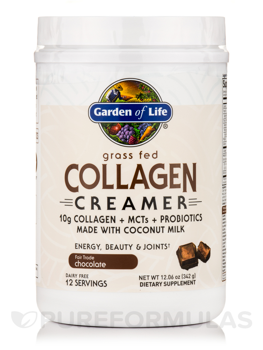 Grass Fed Collagen Creamer Powder, Chocolate - 12.06 oz (342 Grams
