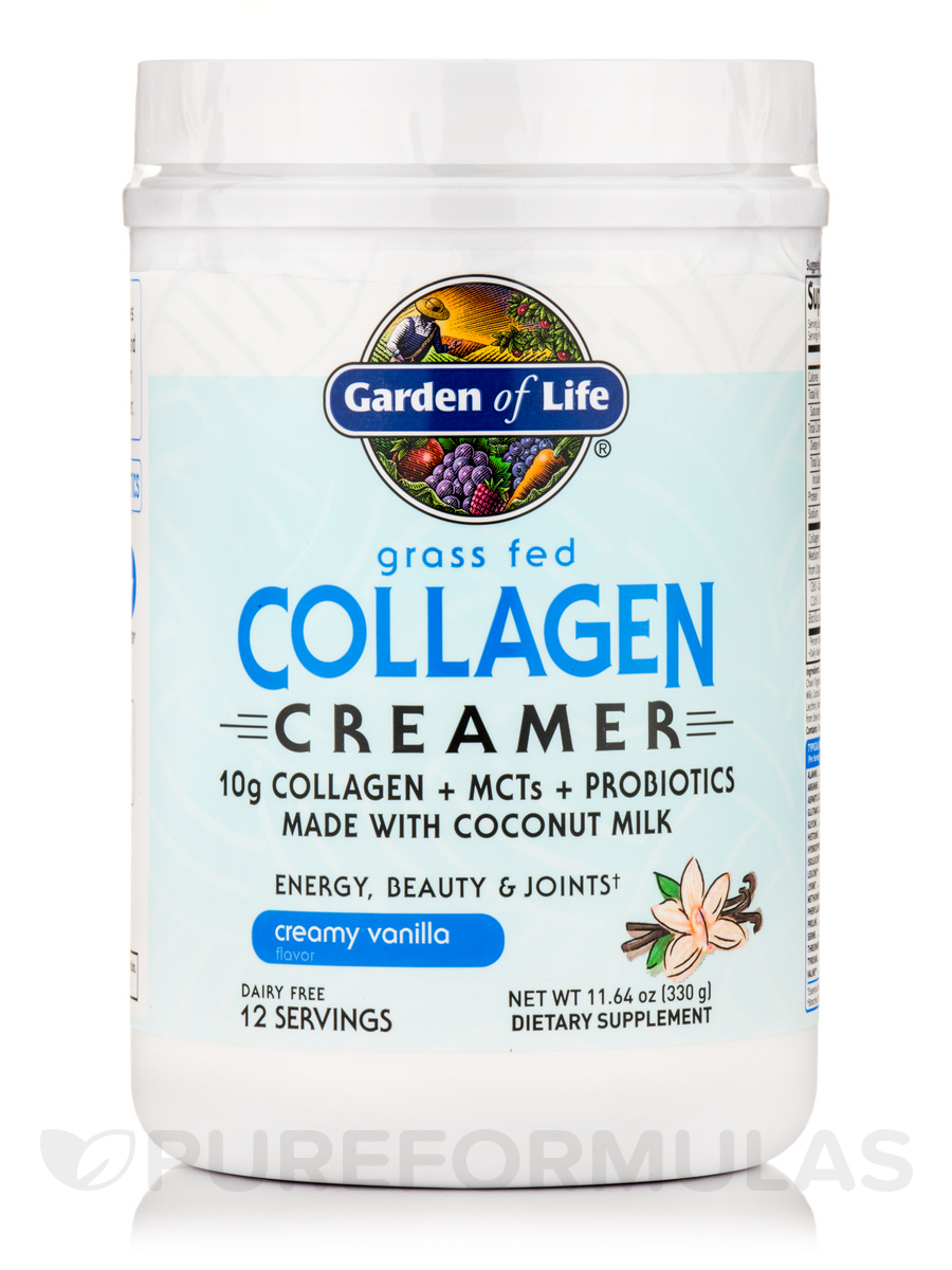 Grass Fed Collagen Creamer Powder, Creamy Vanilla - 11.64 oz (330 Grams)
