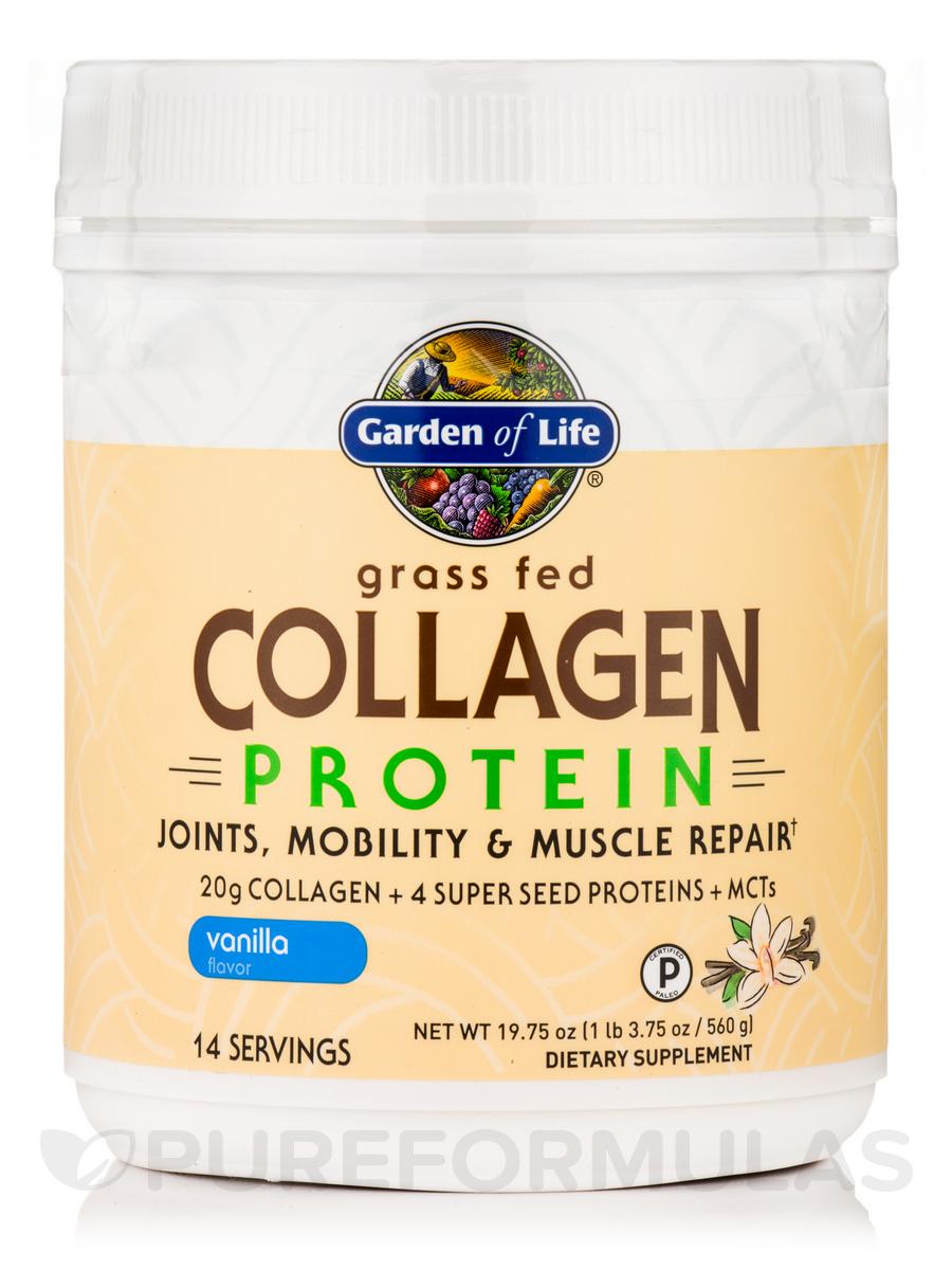 Grass Fed Collagen Protein Powder, Vanilla - 19.75 oz (560 Grams)