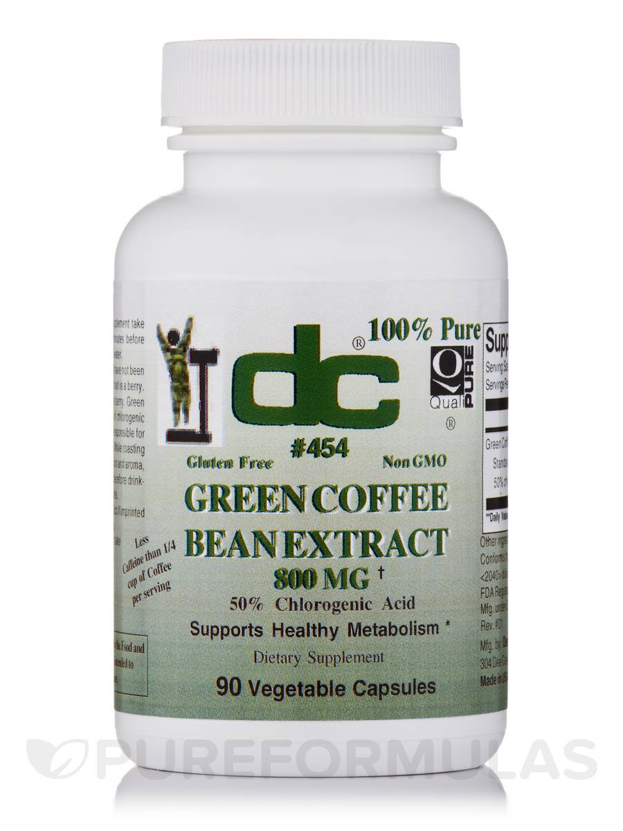 Green Coffee Bean Extract 800 mg - 90 Vegetable Capsules