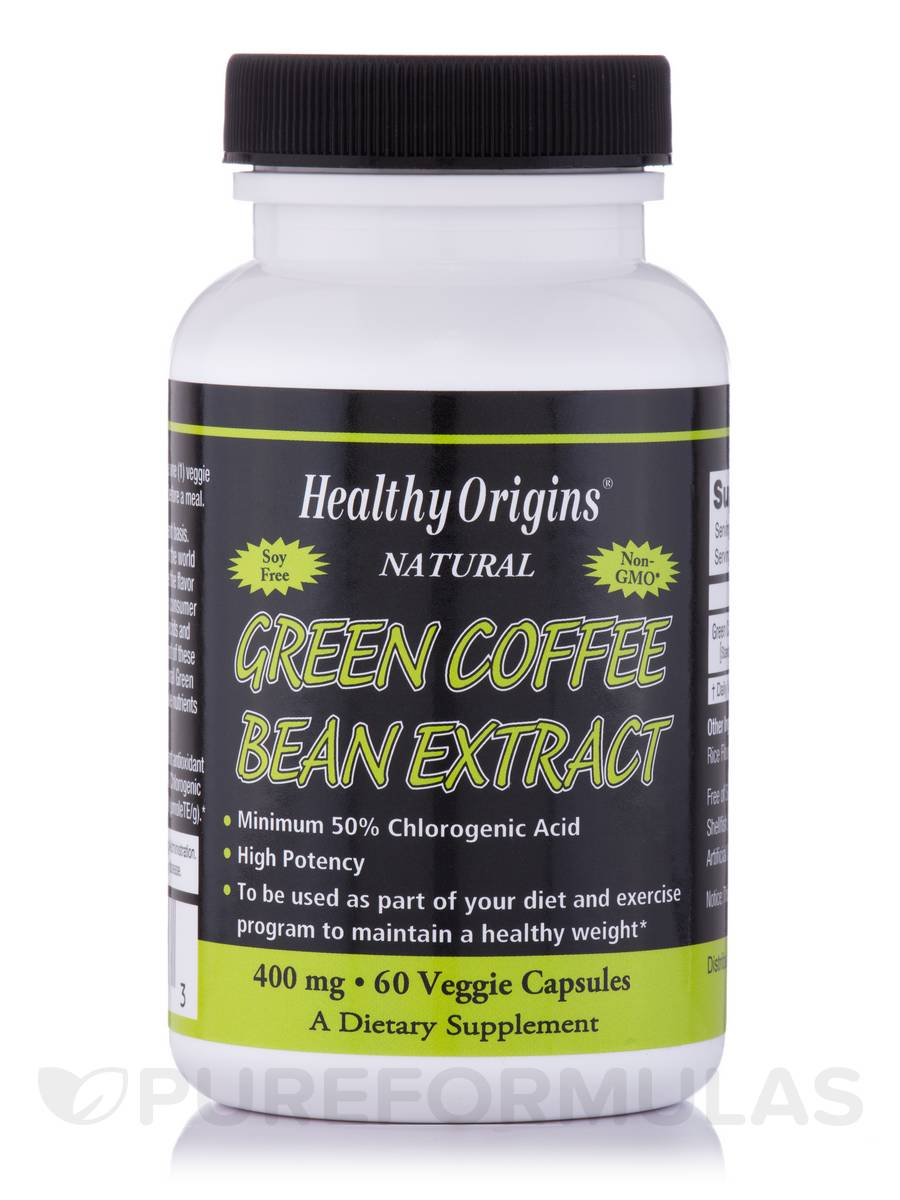 Green Coffee Bean Extract 400 mg - 60 Vegetarian Capsules