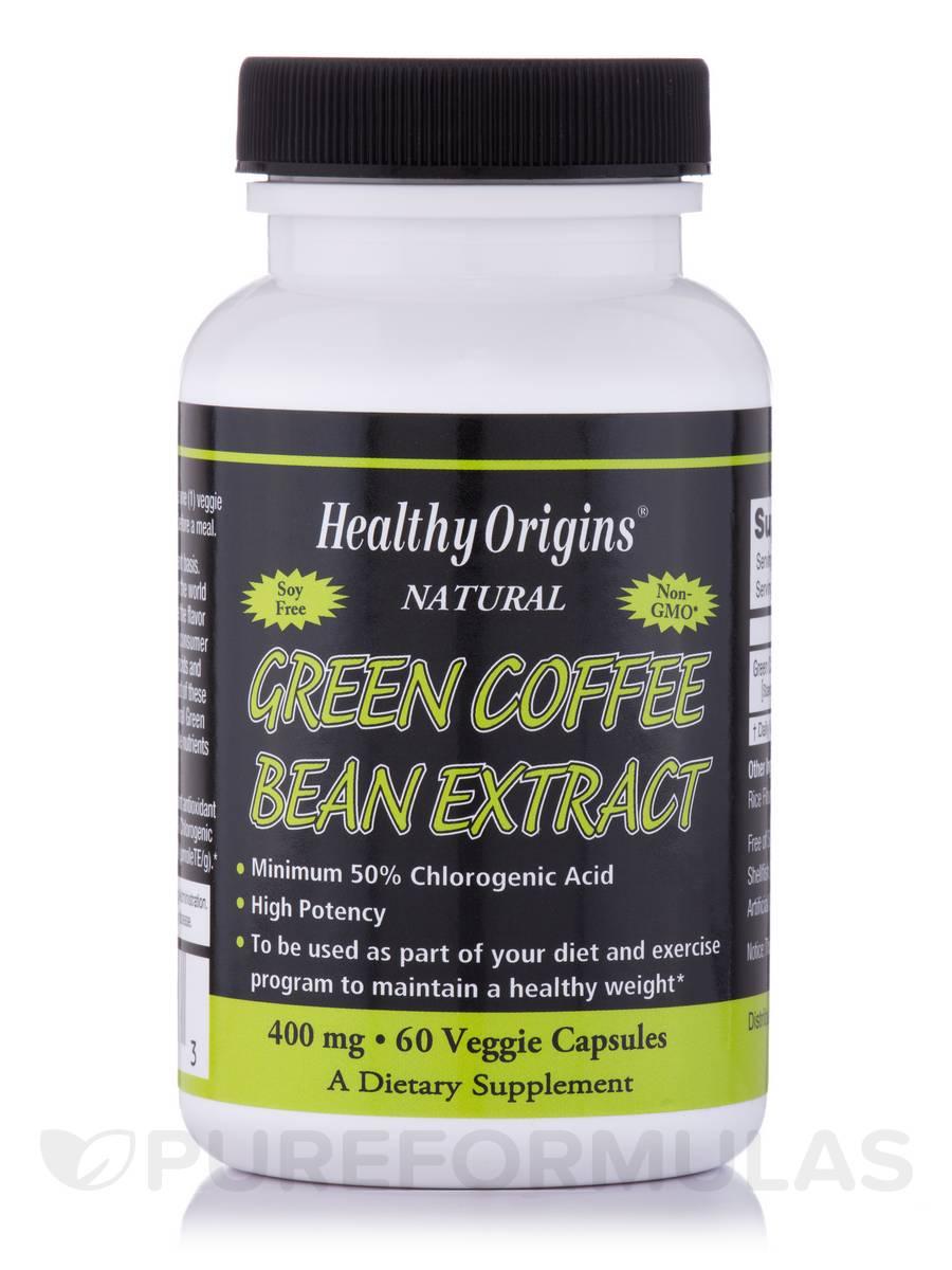Green Coffee Bean Extract 400 Mg 60 Vegetarian Capsules