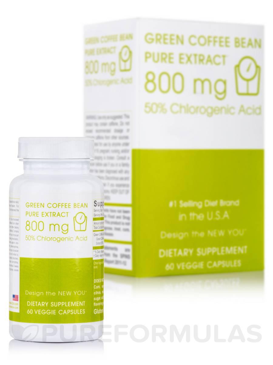 Green Coffee Bean Pure Extract™ 800 mg - 60 Veggie Capsules