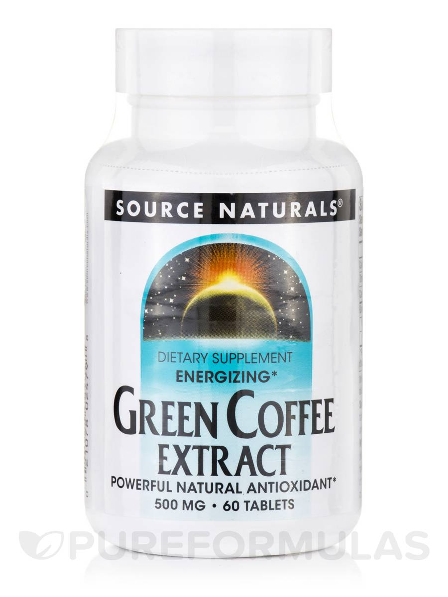 Energizing Green Coffee Extract 500 mg - 60 Tablets