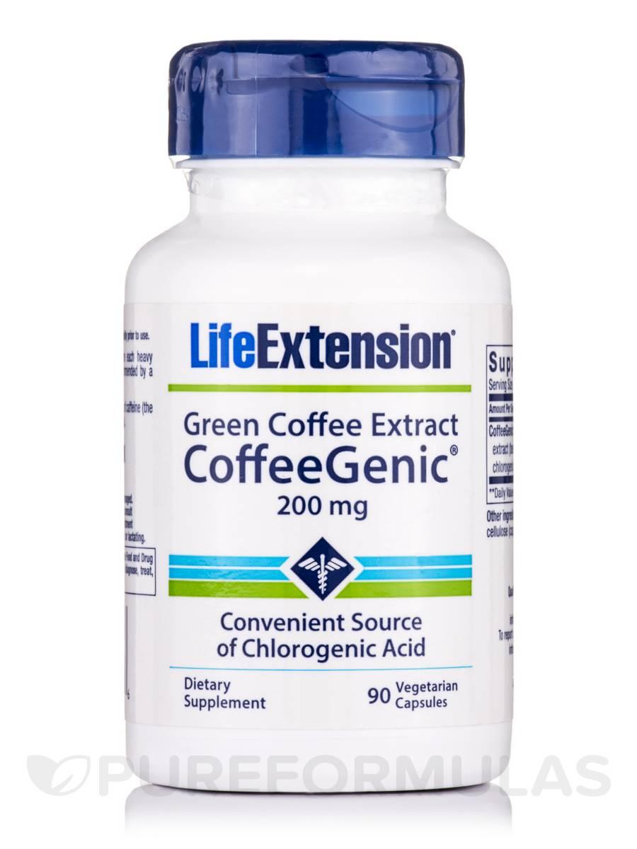 Green Coffee Extract (Coffeegenic) 200 mg - 90 Vegetarian Capsules