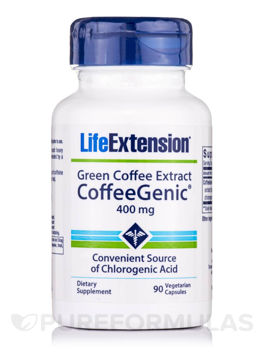 Green Coffee Extract (Coffeegenic) 400 mg - 90 Vegetarian Capsules