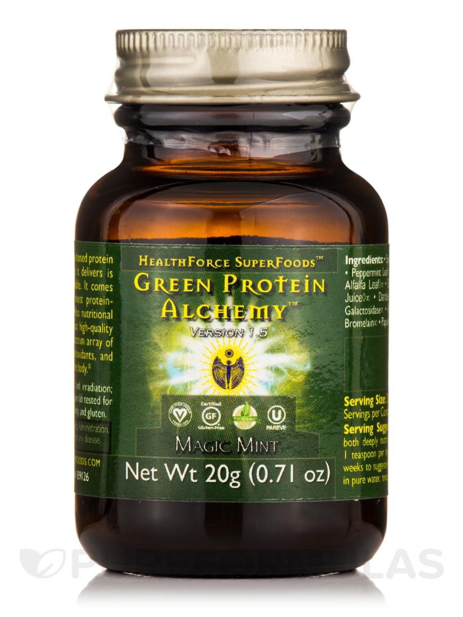Green Protein Alchemy™ Magic Mint Powder - 0.71 oz (20 Grams)
