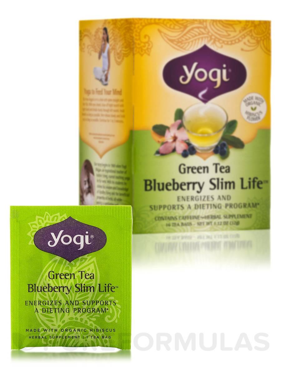 Green Tea Blueberry Slim Life 16 Tea Bags