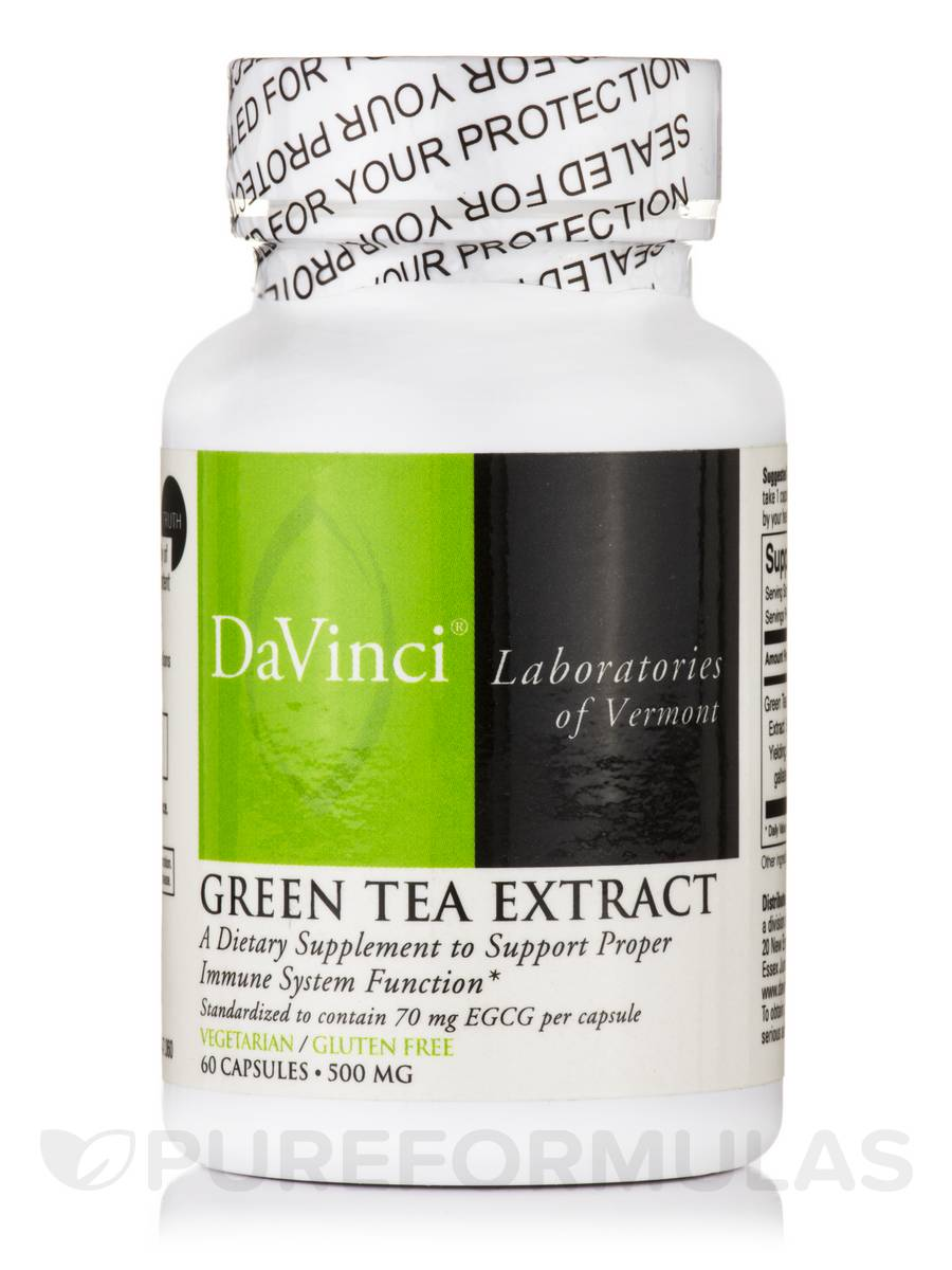 Green Tea Extract 500 mg - 60 Capsules