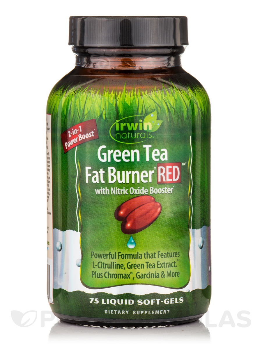 Green Tea Fat Burner Red 75 Liquid Soft Gels