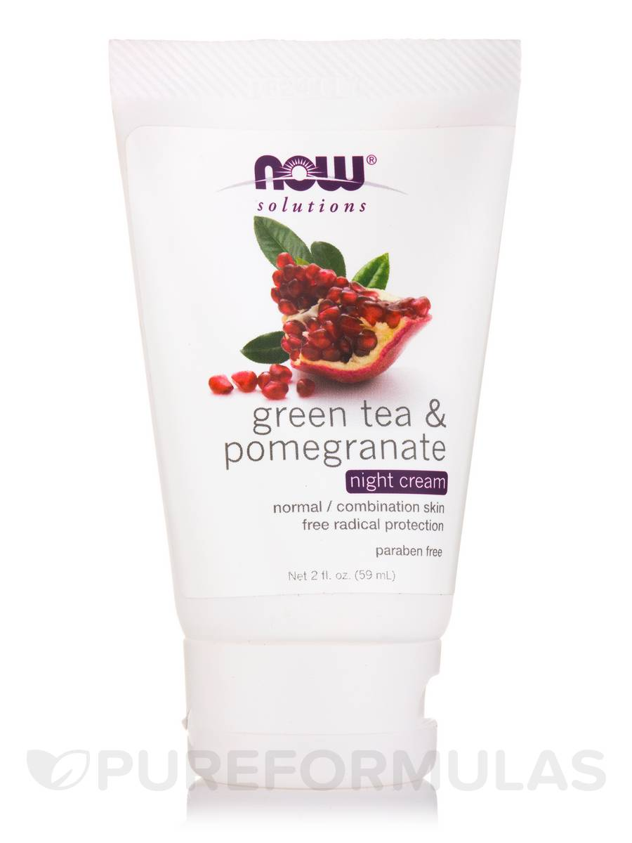 NOW® Solutions - Green Tea & Pomegranate Night Cream - 2 fl. oz (59 ml)