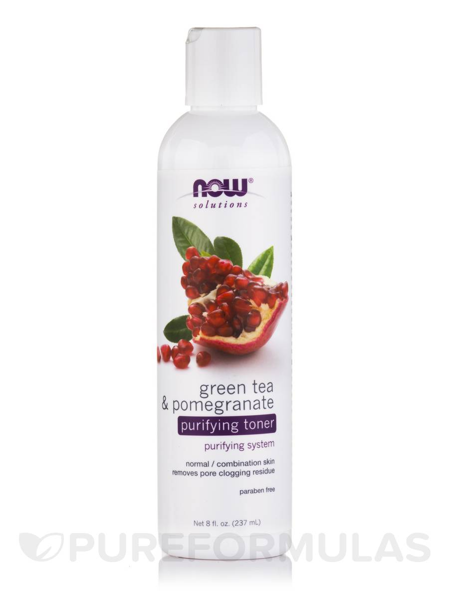 NOW® Solutions - Green Tea & Pomegranate Purifying Toner - 8 fl. oz (237 ml)