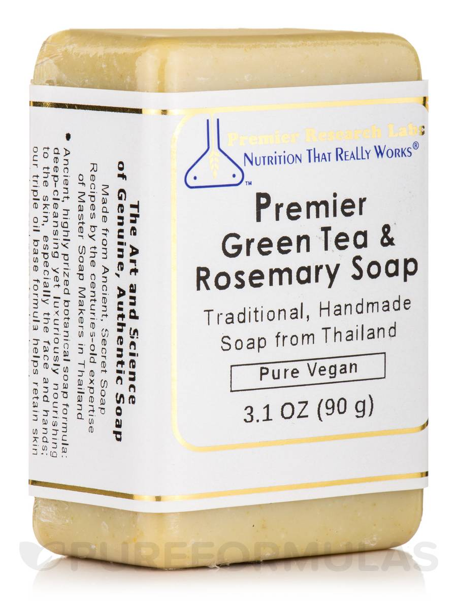 Premier Green Tea & Rosemary Soap - 3.1 oz (90 Grams)