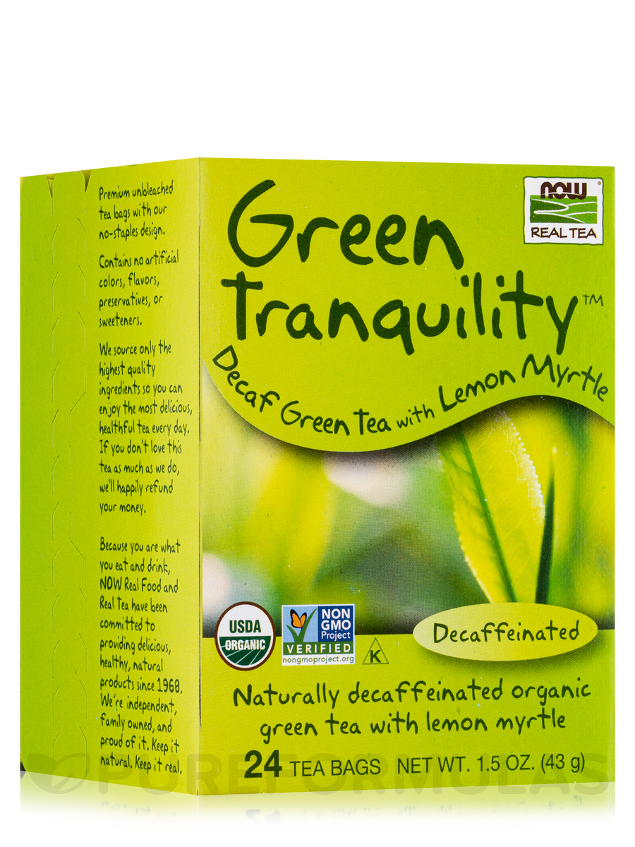 NOW® Real Tea - Green Tranquility Tea Bags - Box of 24 Packets