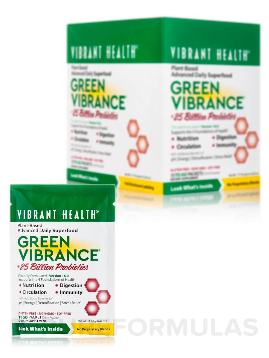 Green Vibrance Powder - 15 Single Serve Packets (6.4 oz / 181.5 Grams)