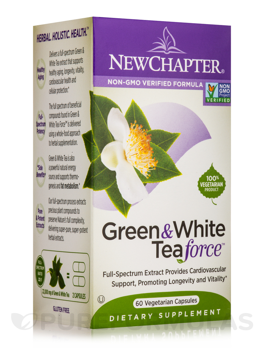 Green & White Tea Force - 60 Vegetarian Capsules