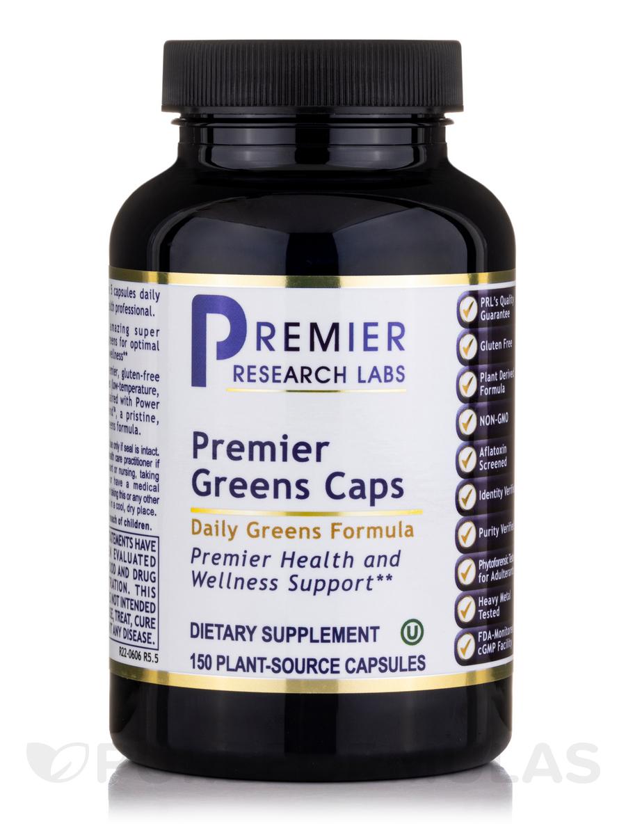 Premier Greens Caps - 150 Vegetarian Capsules
