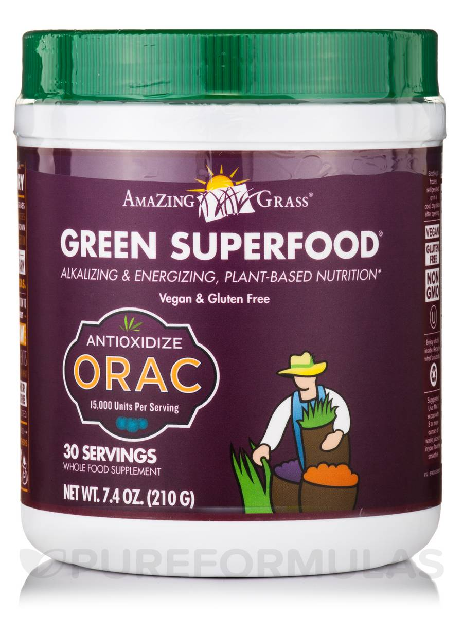 Green SuperFood® ORAC Powder - 30 Servings (7.4 oz / 210 Grams)