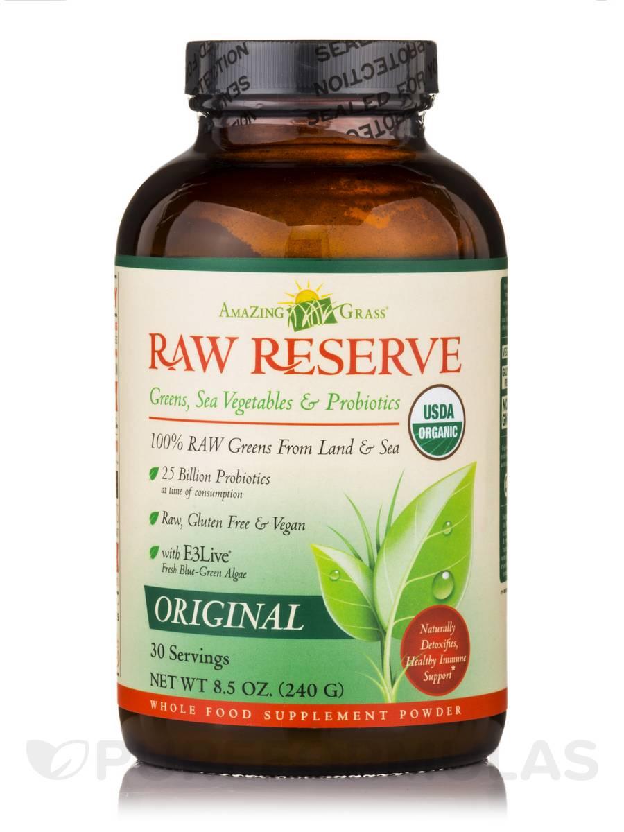 Raw Reserve Greens, Sea Vegetables & Probiotics Original - 30 Servings (8.5 oz / 240 Grams)