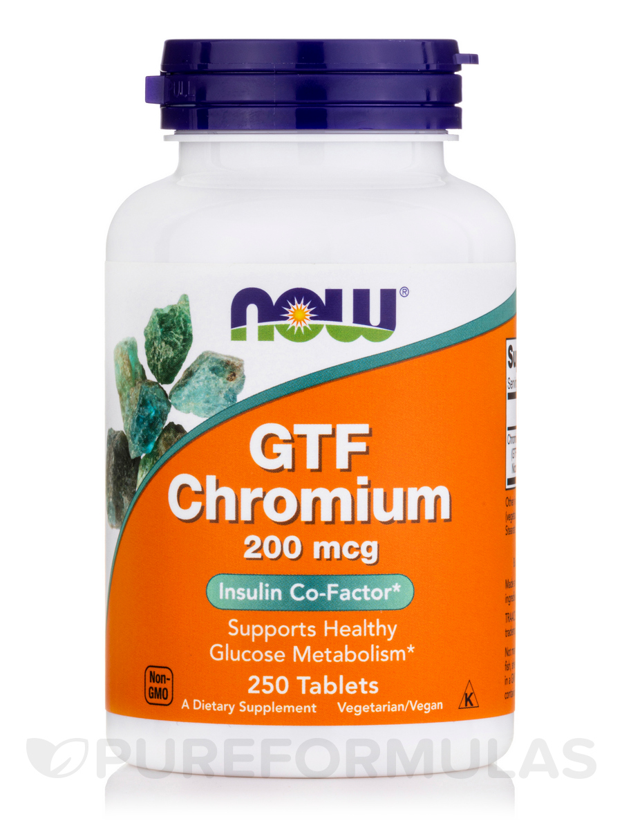 GTF Chromium 200 mcg - 250 Tablets