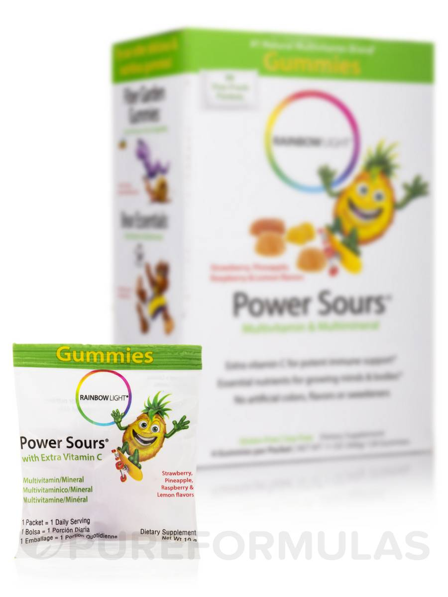 Gummy Power Sours® Multivitamin & Multimineral (Assorted Flavors) - 30 Packets (120 Gummies)