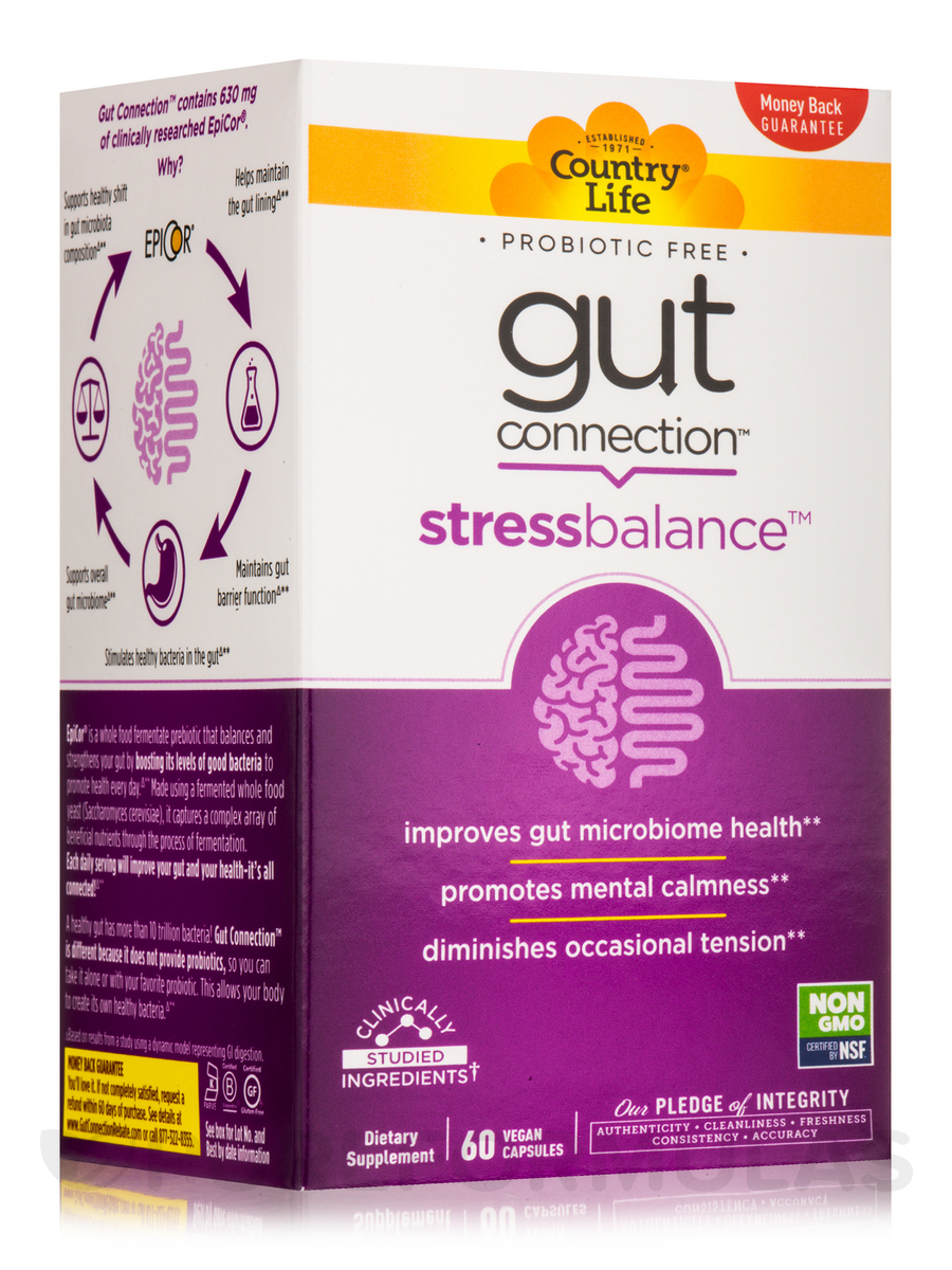 Gut Connection Stress Balance - 60 Vegan Capsules