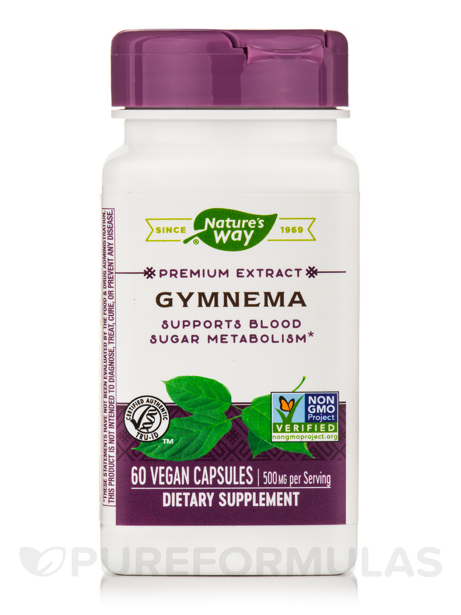 Gymnema Standardized 500 mg - 60 Capsules
