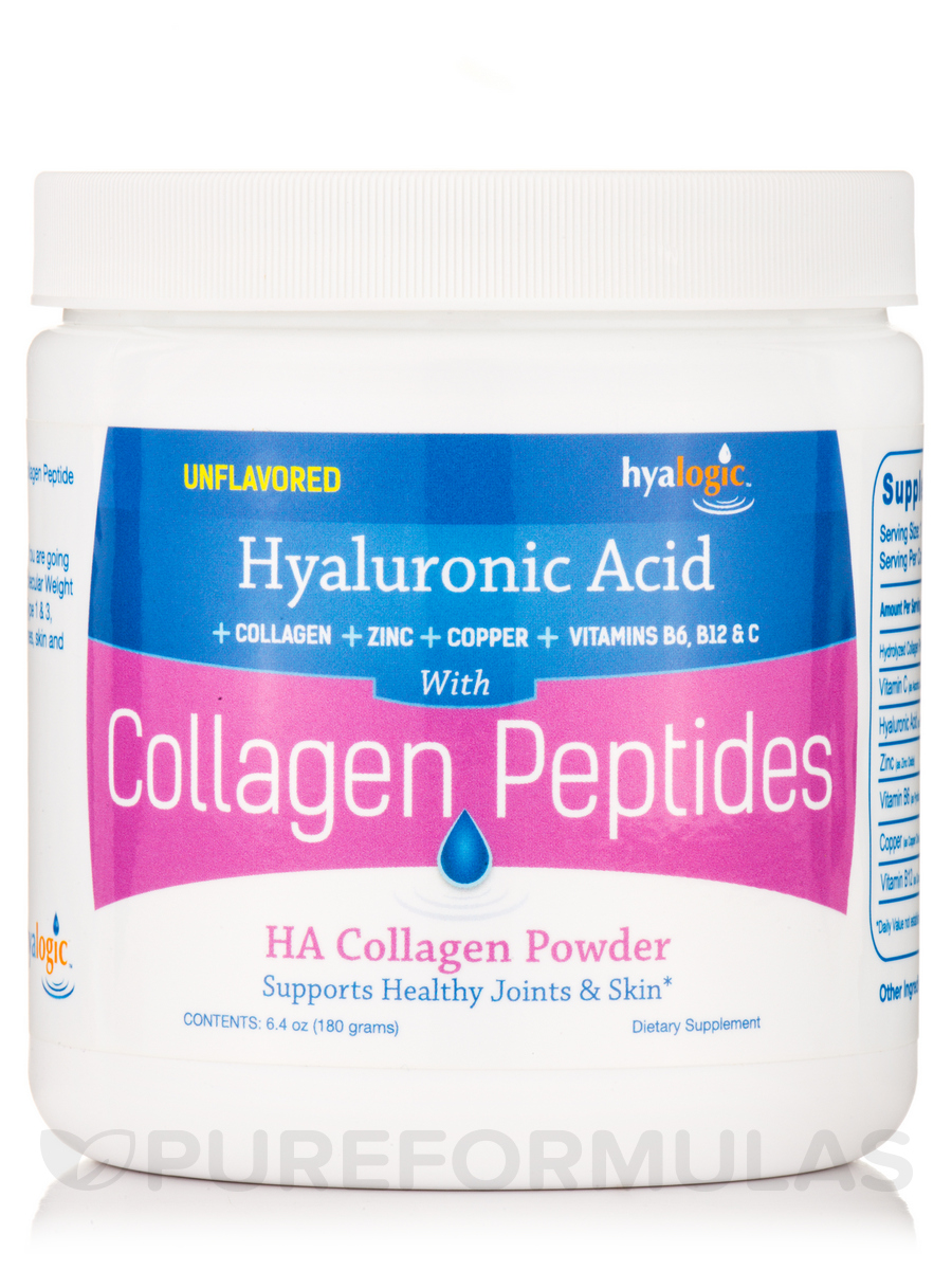 HA Collagen Powder (Collagen Peptides) - 6.4 oz (180 Grams)