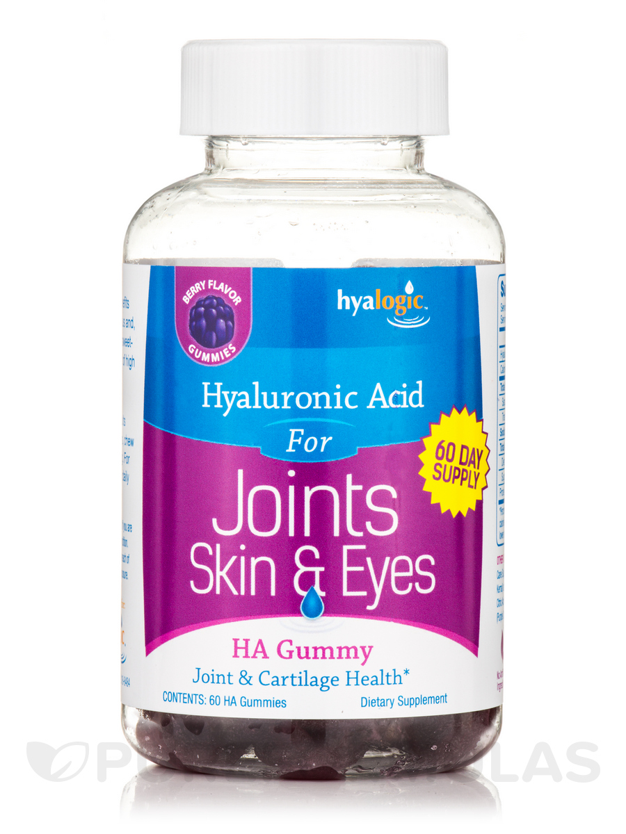 HA Gummy (Hyaluronic Acid for Joints, Skin & Eyes), Berry Flavor - 60 Gummies