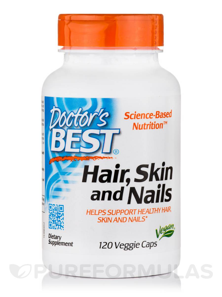 120 Veggie Capsules: Hair, Skin And Nails