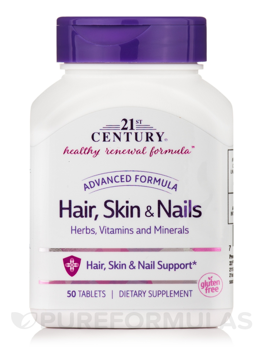 Hair, Skin & Nails Advanced Formula - 50 Tablets