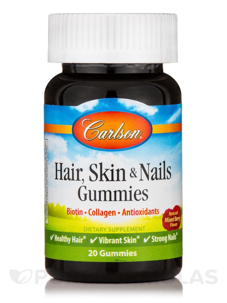Hair, Skin & Nails Gummies, Natural Mixed Berry Flavor - 20 Gummies