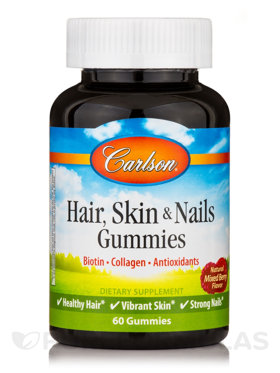 Hair, Skin & Nails Gummies, Natural Mixed Berry Flavor - 60 Gummies
