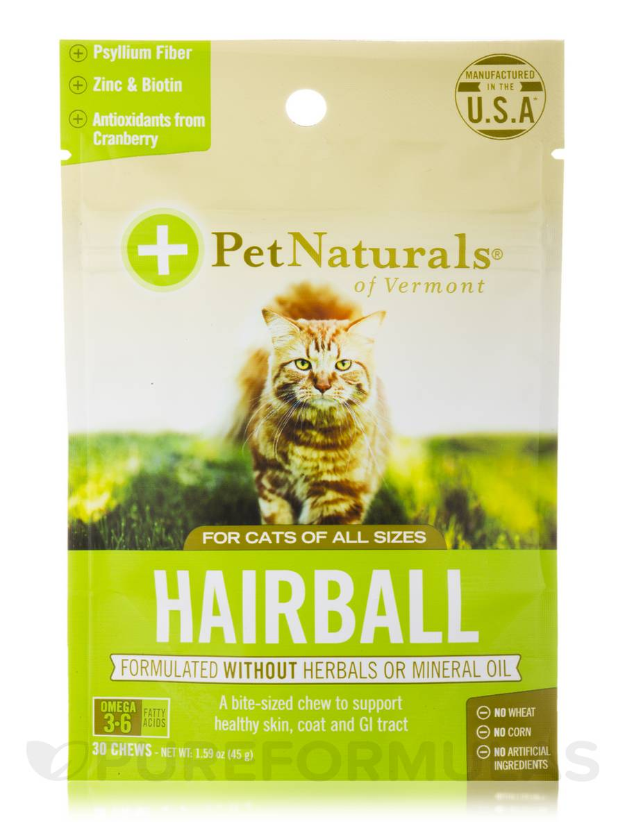 Hairball Chews for All Cats - 30 Chews (1.59 oz / 45 Grams)