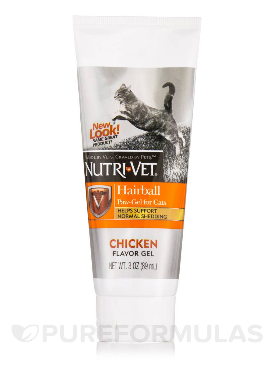 Hairball Paw-Gel for Cats (Chicken Flavor) - 3 oz (89 ml)