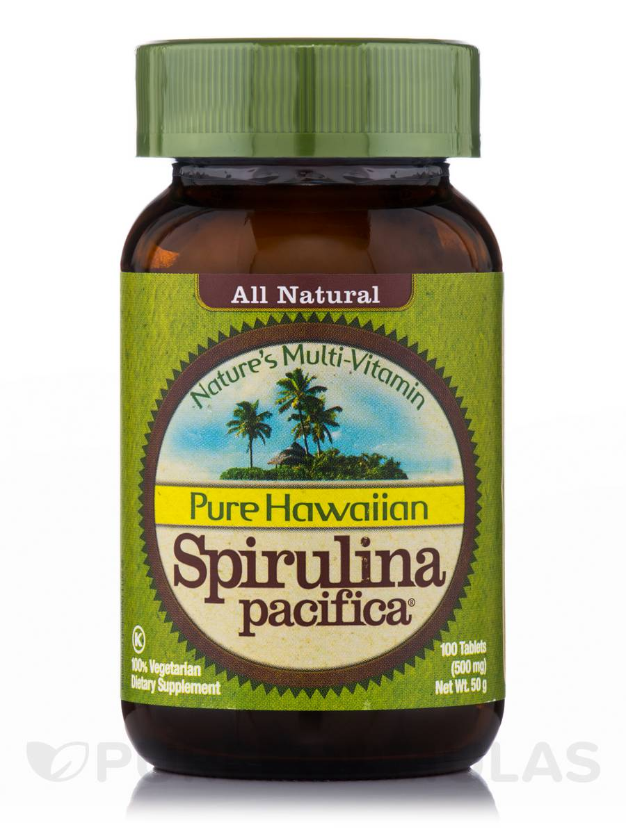 Hawaiian Spirulina 500 mg - 100 Tablets