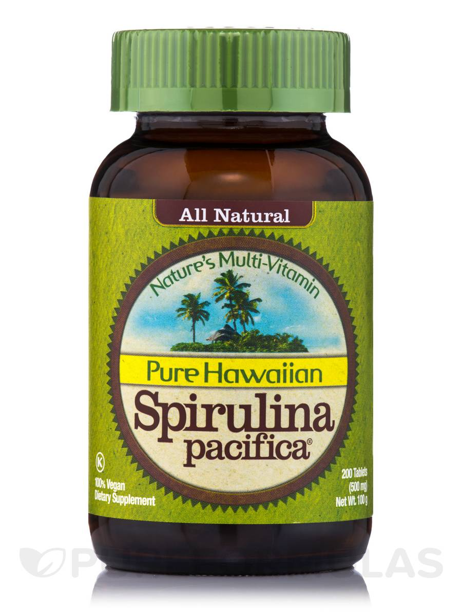 Hawaiian Spirulina 500 mg - 200 Tablets