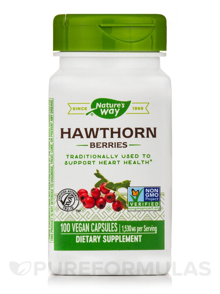 Hawthorn Berries 510 mg - 100 Capsules